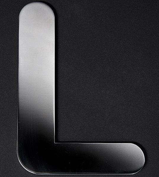 11cm edelstahl buchstaben l namensschilder edelstahl haust r. Black Bedroom Furniture Sets. Home Design Ideas