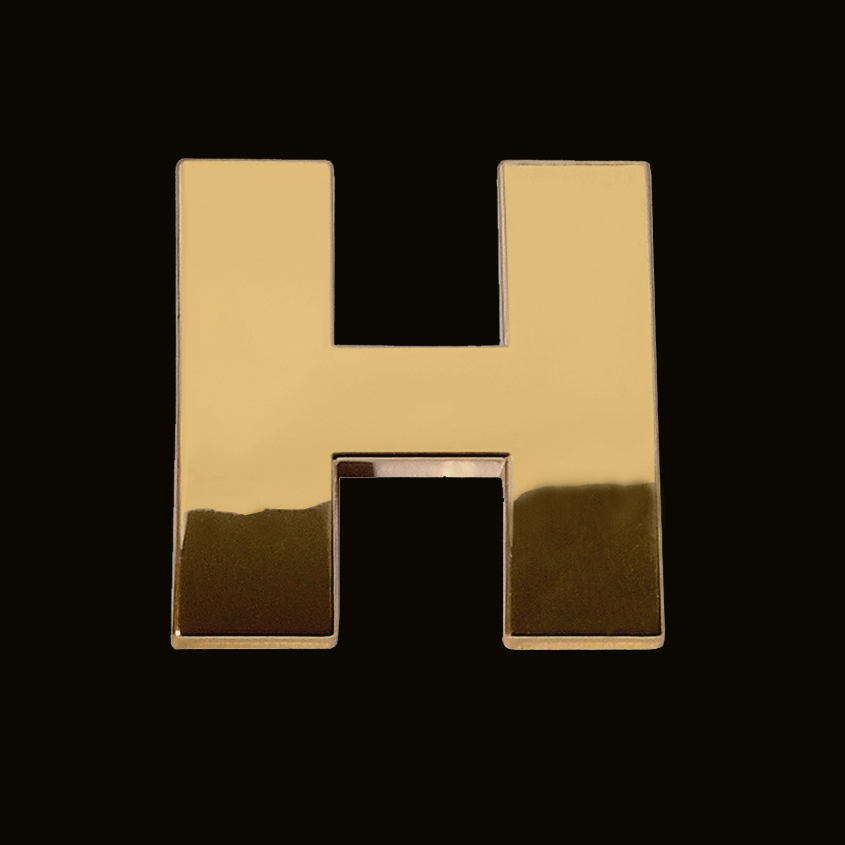 H Letter In Gold Gold letter H (3cm) - ...
