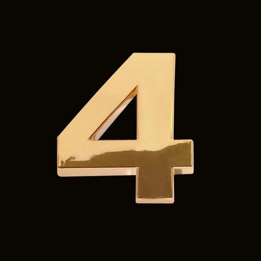 Gold ziffer 4 30mm chrombuchstaben firmenlogo herstellung for The 8 boutique b b barcelona