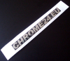 Chrome letter carrier tape