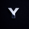 chrome letter Y (20mm)